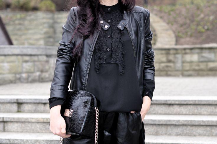 http://4weloveit.blogspot.com/2016/03/totalna-czern-total-black.html#more #leather #totalblack #fashion #style