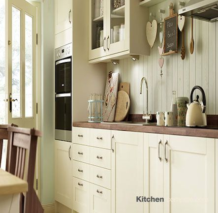 17 best images about cream painted shaker kitchens on for Bone white kitchen cabinets