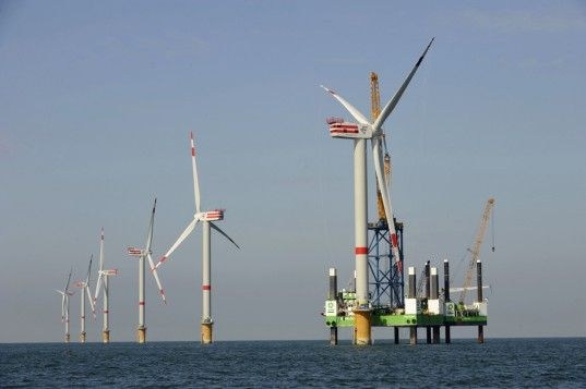 A German energy company is set to break an industry record by installing the world's most powerful wind turbine off the Belgian coast  (Source:http://inhabitat.com/worlds-most-powerful-wind-turbine-to-be-installed-off-belgian-coast/)