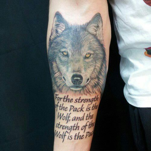 Tattoo Quotes Wolf