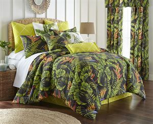SAVE 25% Coupon Code DYFP25 on Delectably-Yours.com Flower of Paradise Tropical Bedding Collection & Accessories by Colcha Linens