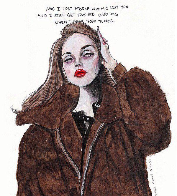 Lana Del Rey #LDR #Terrence_Loves_You #art by Lucas David