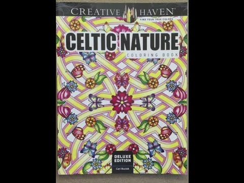 Celtic Nature Coloring Book - video flip through - YouTube