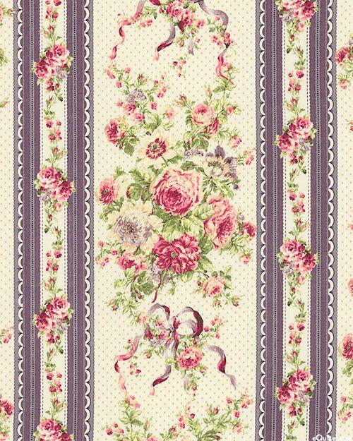 Japanese Import - Ruru Bouquet - Ribbon Rose Stripe - Almond