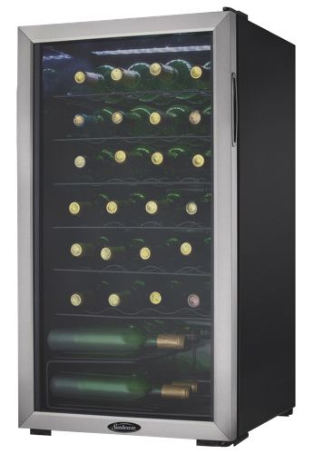 But the kitchen is all the way over there! The Sunbeam 3.3 Cu. Ft. Wine Cooler.