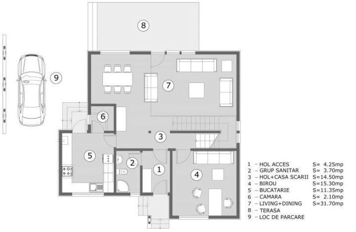 Proiecte de case pentru o familie cu patru membri Best house plans for a family of four 8