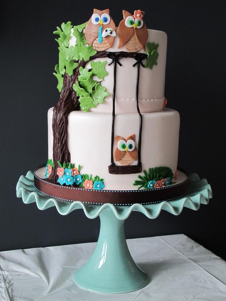 Owl Themed Baby Shower Cake Baby Shower Pinterest
