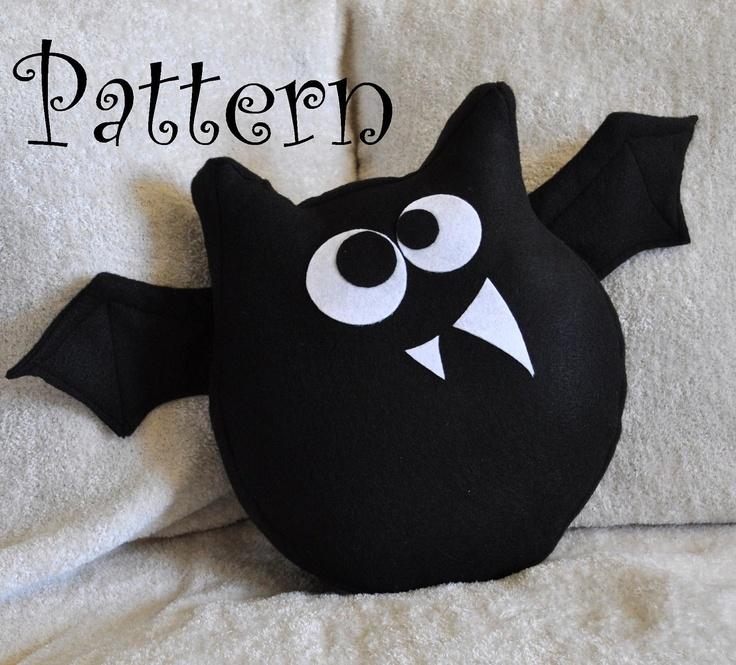 Bat Plush Pattern PDF Jugular the Bat Plush Pillow -Halloween Tutorial Pattern DIY How to Make. $6.99, via Etsy.