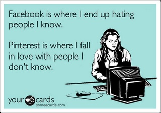 Oh my gosh, this is so true!!! Too bad it's so difficult to talk to someone {I mean if you wanted to send them a message}. The comment box just doesn't cut it! #Pinterest #Love