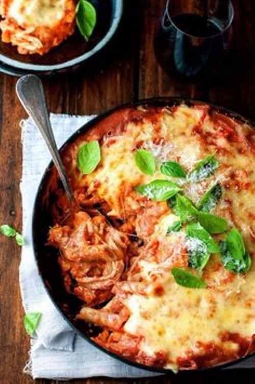 Amazing Italian chicken pasta bake
