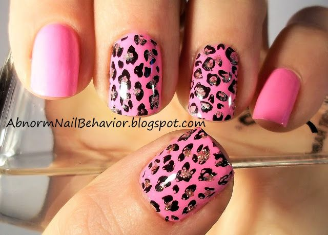 Abnorm Nail Behavior Nail Art February 2018 In 2020 Leopard Print Nails Animal Print Nails Animal Print Nails Art