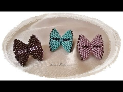 "DIY: tutorial ""fiocco"" con perline - YouTube"