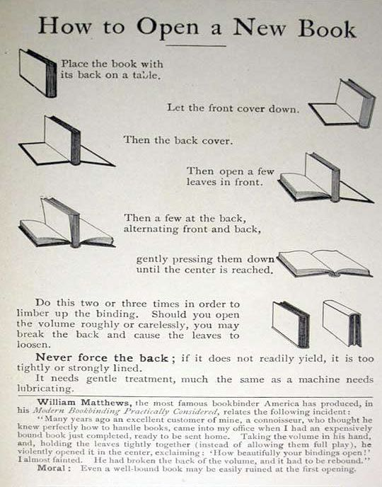 How to open a new book… book lovers tip