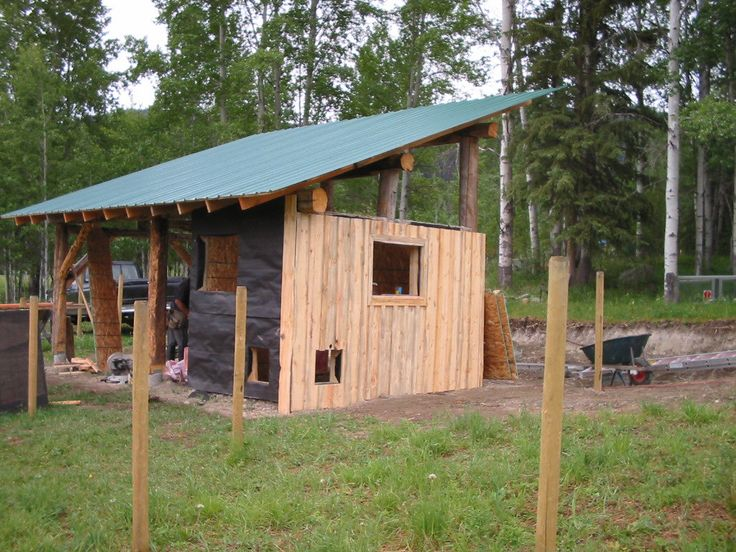 how to build a fast cheap horse shelter