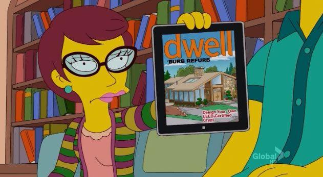 """Neutra Bones"" in the house next door to the Simpsons."