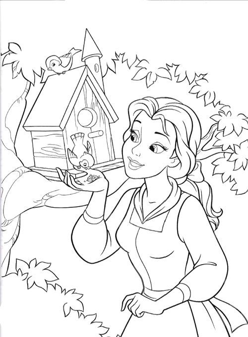 43 best Beauty and the Beast ~ Disney Coloring Pages images on ...