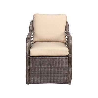Create Your Own Collection Hampton Bay Cane Crossing Patio Chat Chair With Ba