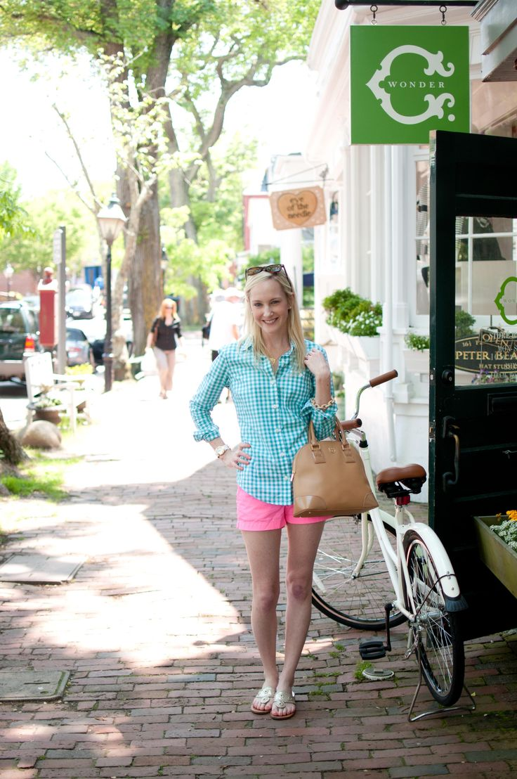 Nantucket Style: C.Wonder Gingham and Hot Pink Shorts - Kelly in the City