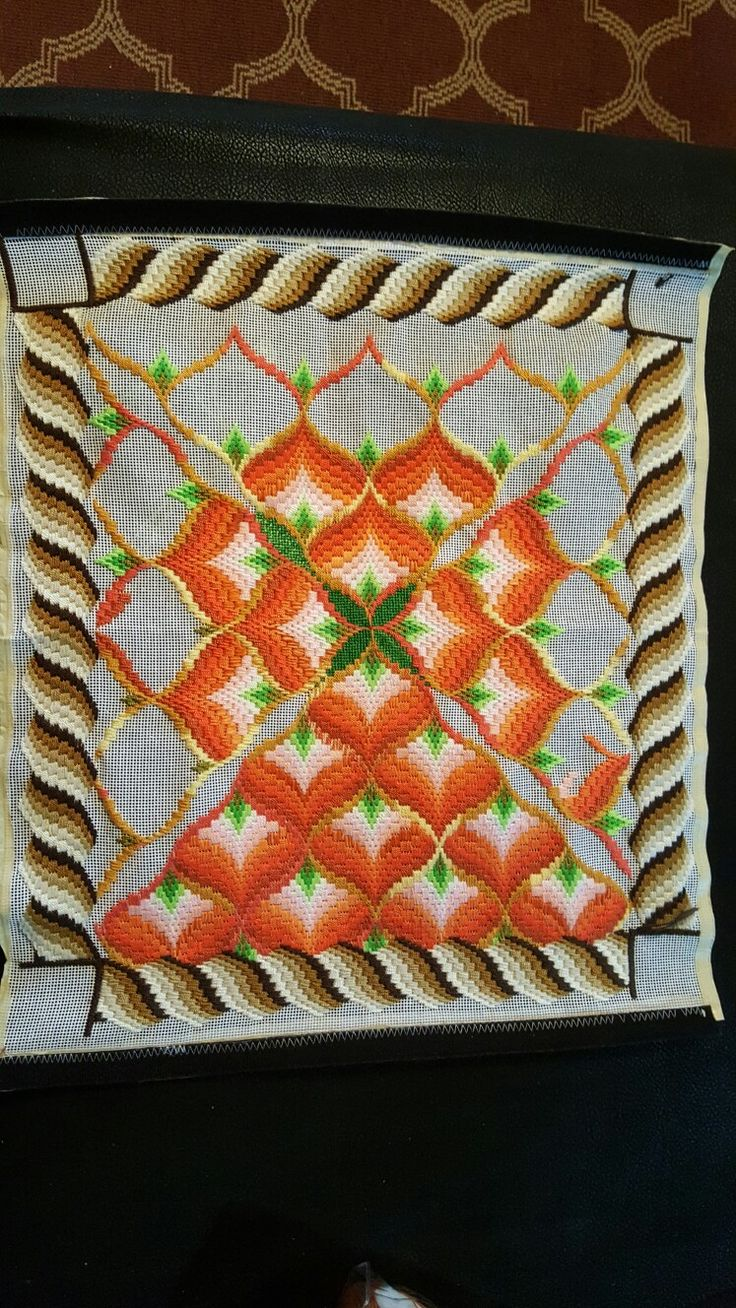 My  eighth Bargello,almost done !!! ❤