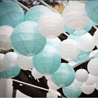 Tiffany Blue and White Laterns