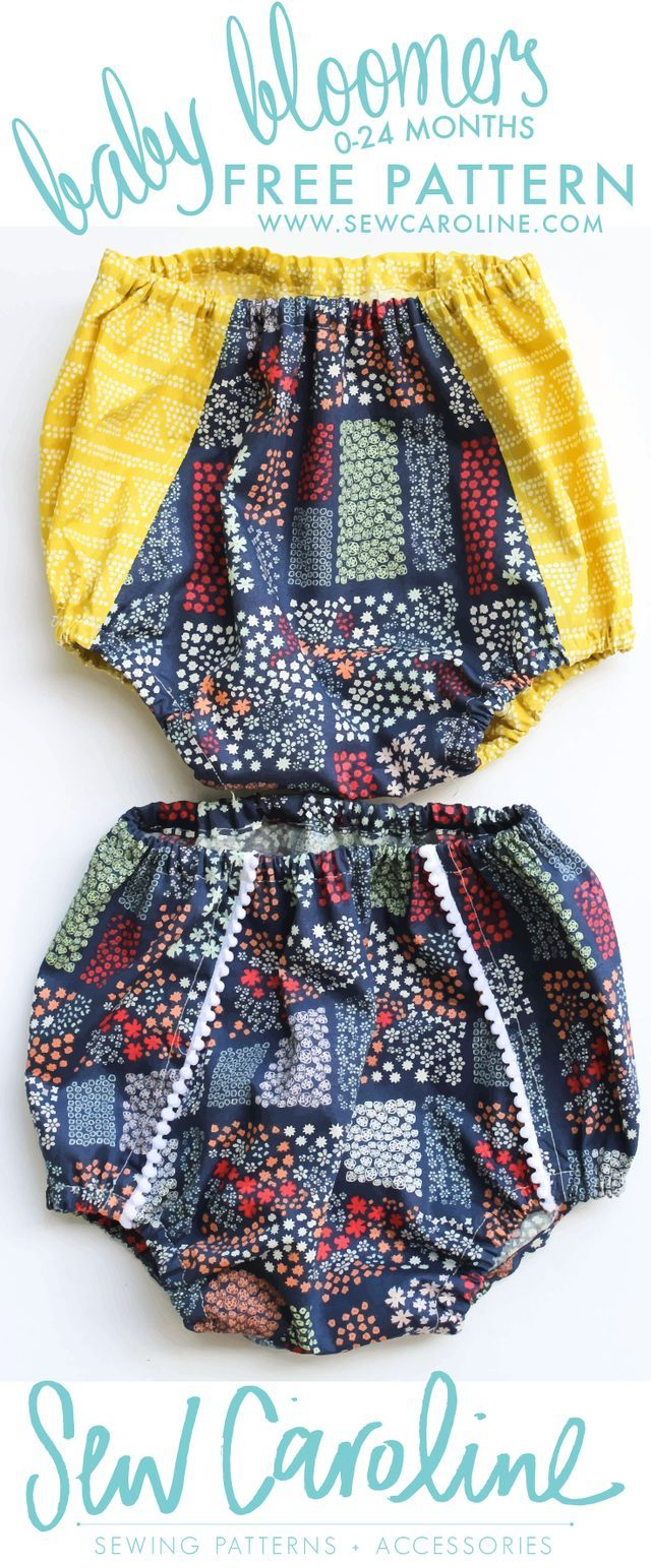 Today I'm excited to share a FREE downloadable PDF pattern for you to add to your stash. And it's something out of the ordinary for me: BABY BLOOMERS! My friend, Bonnie, asked me to be a part of her f