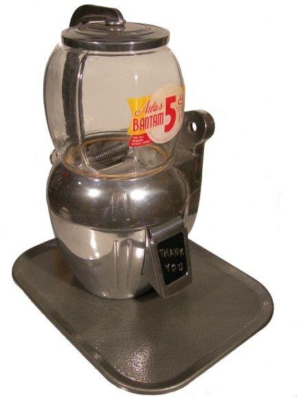 Atlas bantam gumball machine vintage vending pinterest for Fishing bob slot machine
