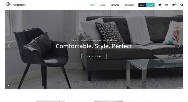New template! JM Lux is a Joomla eCommerce template presented as an example of furniture and decor store. #template #Joomla #furniture #interior #responsive #website #store #j2store #ecommerce #site