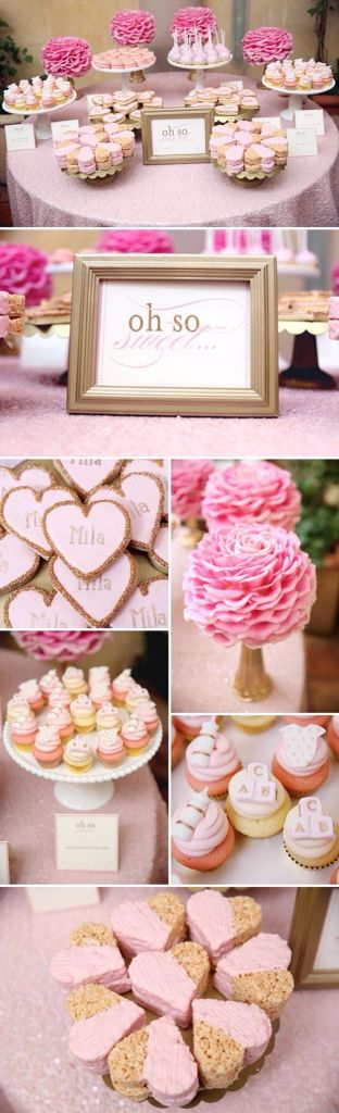 Deliciosos dulces! Para un cumple rosado! Viva El Rosa!!