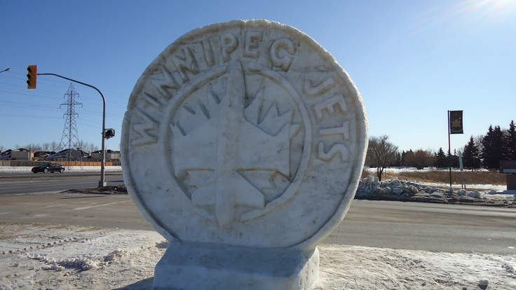 Winnipeg Jets Ice sculpture - DSC02429