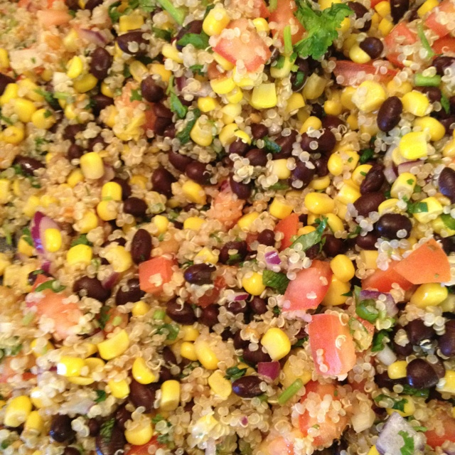 Southwestern Black Bean and Quinoa Salad!