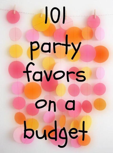 Swanocean: 100+1 Party favors on a budget-100+1 οικονομικά δωράκια για πάρτυ