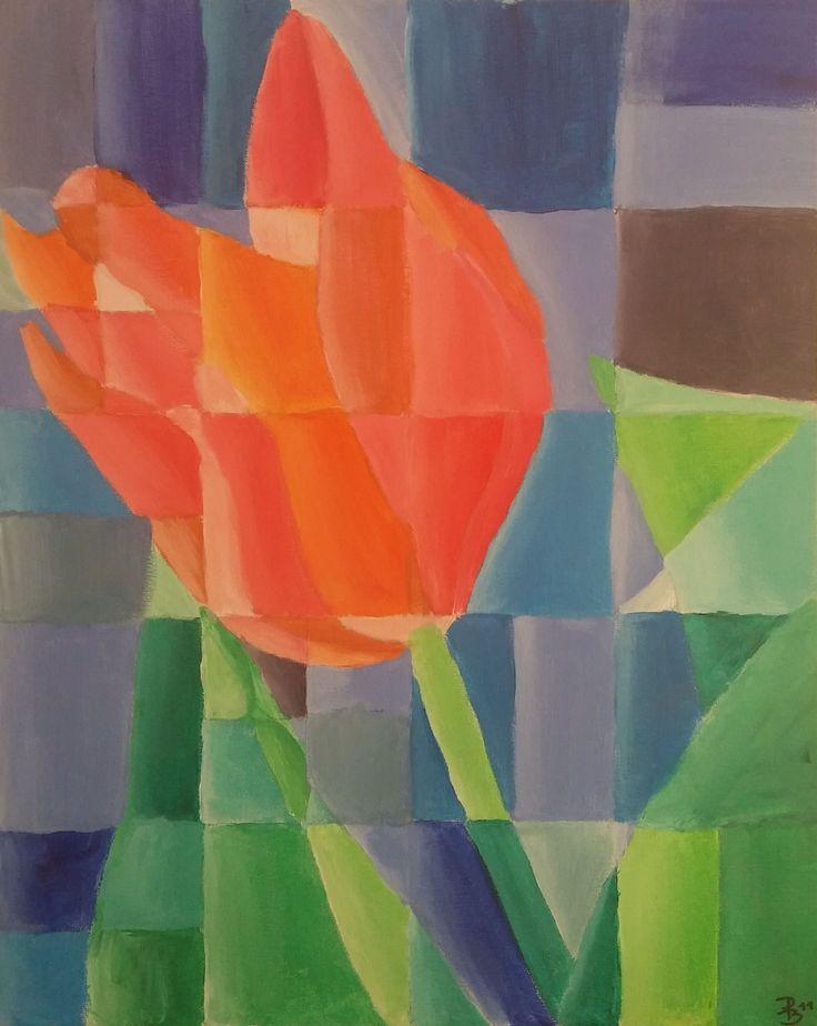 Cubistic flower