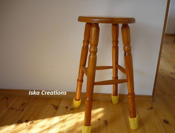 Chair Socks Floor Protector Chair  Leg Protector  by IskaCreations