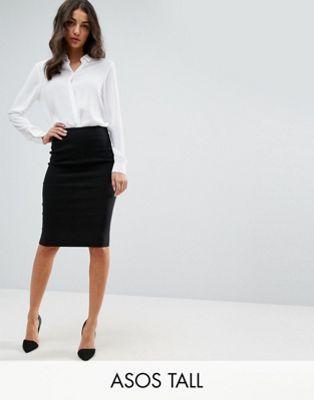 3ca5ee4c0 Falda de tubo de cintura alta de ASOS DESIGN Tall en 2019 | Estilo ...