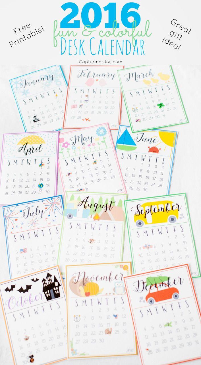 Desktop Calendar April 2016 307 best free printable 2018 calendars + 2017 calendars images on