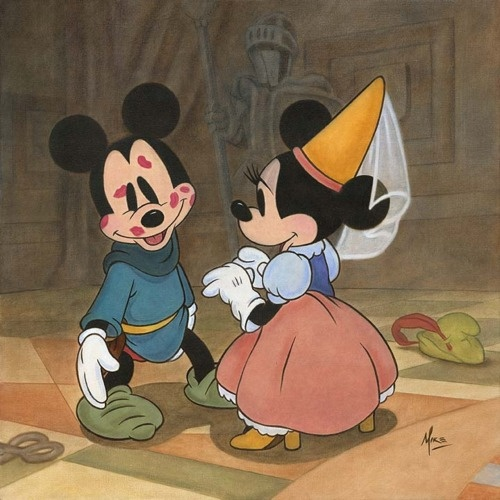 kisses<3Mice, Mickey Mouse, Disney Fans Art, Oldies But Goodies, Minnie Mouse, Disney Cartoons, Things Disney, Kisses, Disney Fine Art