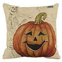 Halloween Thriller pillow, Laimeng Halloween Pumpkin Square Pillow Cover Cushion Case Pillowcase Zipper Closure