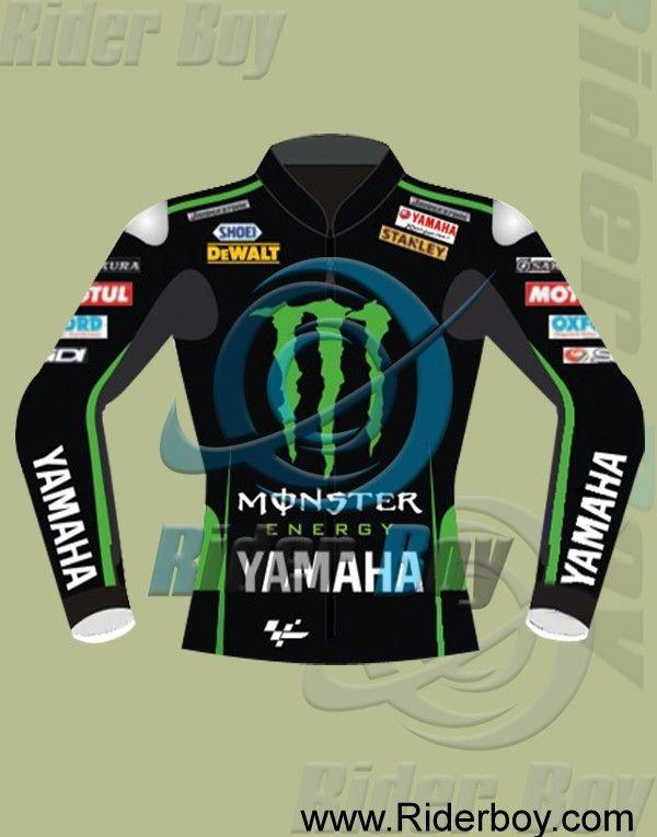 Bradley Smith Yamaha Monster Motorcycle Leathe Jacket #Walking_Dead #Season_7 #Jeffrey_Dean_Jacket #Morgan_Negan_Jacket #Leather_Jacket #Biker_Jacket #Black_Jacket #Mens_Fashion #Lifestyle