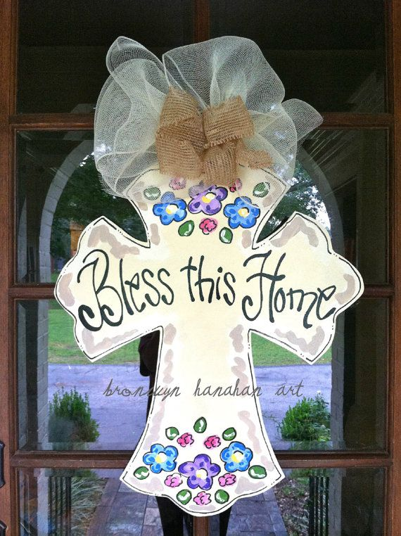 Bless this Home Door Hanger Bronwyn Hanahan by BronwynHanahanArt, $50.00