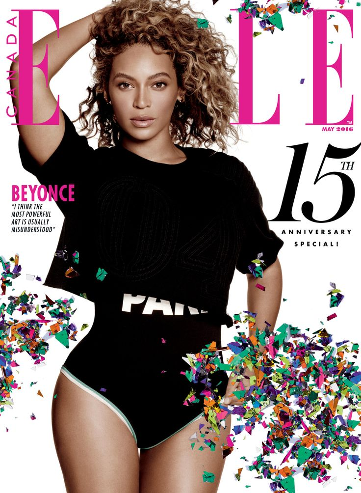 BEYONCE is the cover girl for the MAY 2016 issue of ELLE
