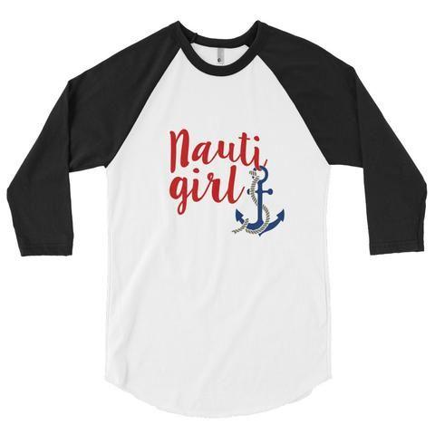 3/4 Ladies Nauti Girl Raglan Shirt