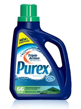 Purex Triple Action liquid detergent - Mountain Breeze  #mypurexfavorites