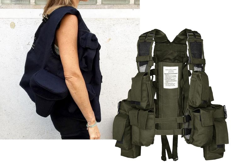Многокарманная сумка Lemaire — перекроенный разгрузочный жилет