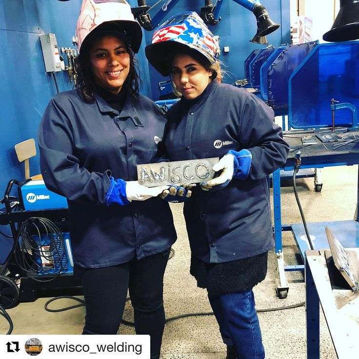 #Repost @awisco_welding  AWISCOs Inside Sales Reps Maria & Toniann learning about Welding Processes & Power Sources at @miller_welders training! Theyre showing off their AWISCO pride and welding skills at the training which is located in Swedesboro NJ!     #internationalwomensday #welding #miller #millerelectric #welders #weld #womenwhoweld #iwd #iwd2018