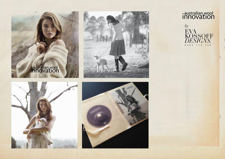 Australian Wool Innovation press kits @ Eva Kossoff Designs