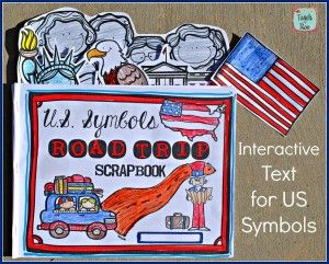 Amazing interactive book for teaching symbols of the United States. Includes Statue of Liberty, Mount Rushmore, Lincoln Monument, Bald Eagle, White House, and American Flag.