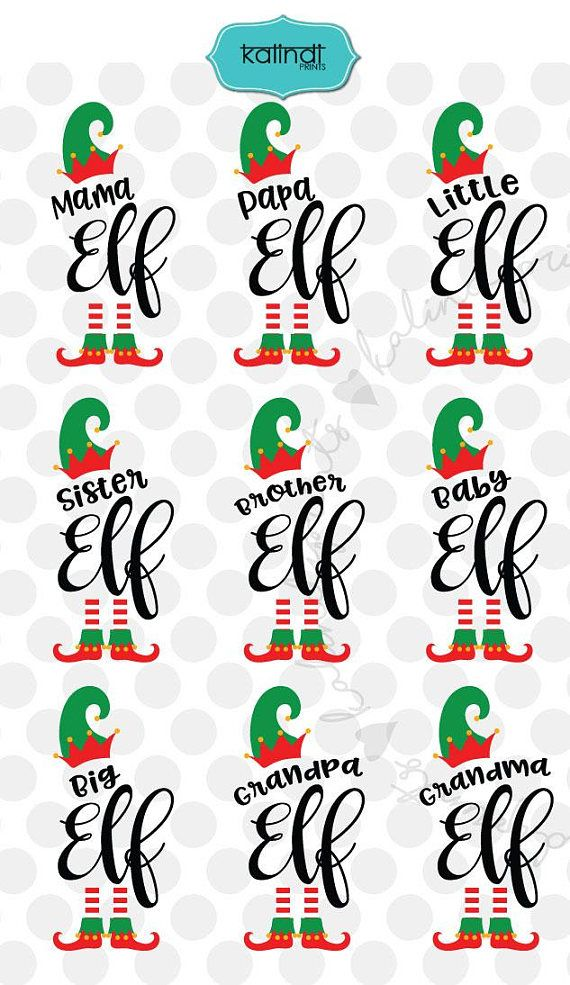 Christmas Family Elf Bundle, SVG, DXF, EPS, PNG, Cut Files, T-Shirt, Silhouette, Cricut, elf SVG, mama, papa, sister, brother, baby, grandma, grandpa, little, big, winter SVG, SVG cutting file, SVG, Christmas SVG, holiday SVG Use for Scrapbook, Cardmaking, Handmade Stationery,