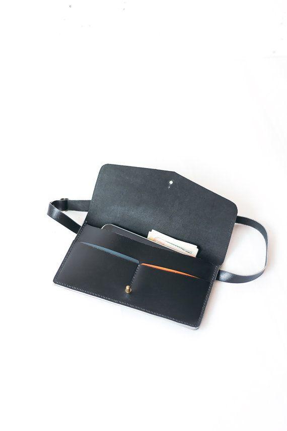 Cintura Marsupio in pelle borsa in pelle nera di TOMBERgoods