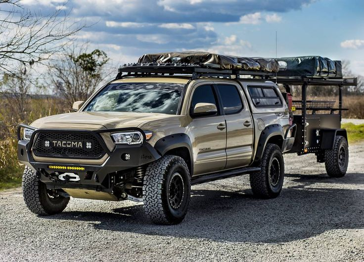 3rd gen overland with trailer | Tacomas and gear ...