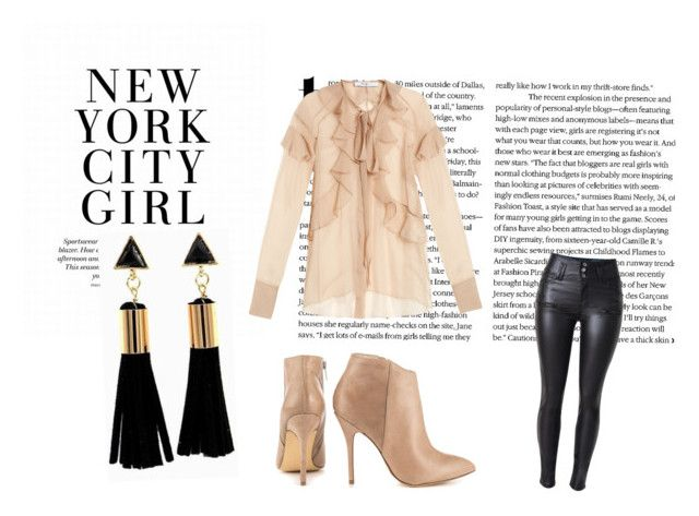 zestaw by aannaadamkiewicz on Polyvore featuring moda, Givenchy and Steve Madden
